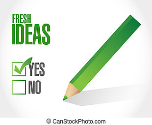 Fresh Ideas approval sign concept