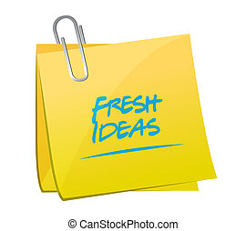 Fresh Ideas memo post sign concept