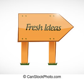 Fresh Ideas wood sign concept