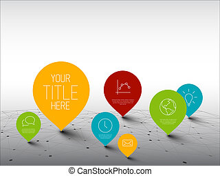 Infographic Template with pointers on a big network - Fresh ...
