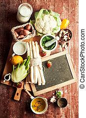 Fresh ingredients for delicious vegetarian cuisine
