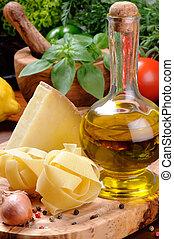 Fresh ingredients for Italian cuisine
