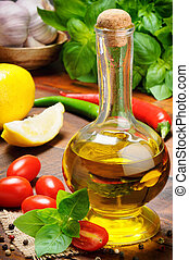 Fresh ingredients for traditional Italian cuisine