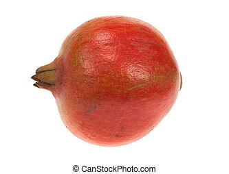 fresh isolated pomegranate