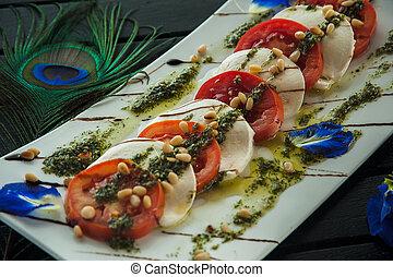 Fresh Italian caprese salad