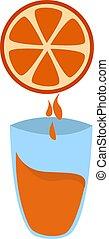 Fresh juice, illustration, vector on white background.