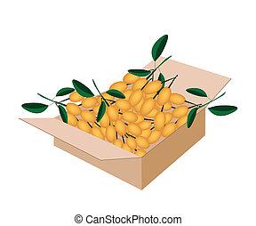 Fresh Juicy Burmese Grape in A Shipping Box - Fresh Fruits,...
