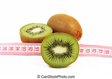 Fresh juicy kiwi fruit