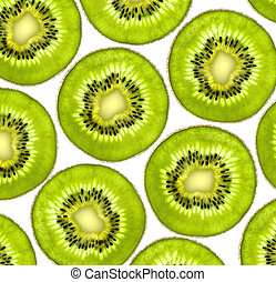 Fresh juicy kiwi slices background