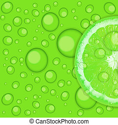 Fresh juicy lime background vector illustration .