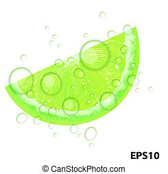 Fresh juicy lime background vector illustration
