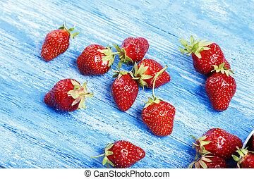 Fresh juicy strawberries. Organic food