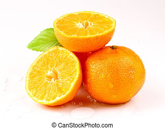Fresh juicy tangerine, mandarin