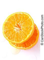 Fresh juicy tangerine, mandarin