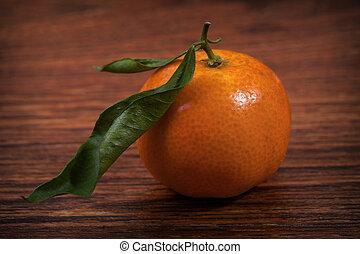Fresh juicy tangerine
