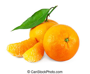 Fresh juicy tangerines