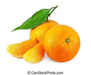 Fresh juicy tangerines