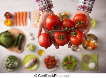 Fresh juicy tomatoes