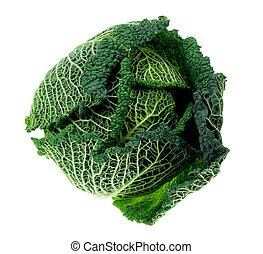 fresh kale isolated