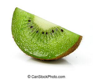 fresh kiwi cut fruit isolated on white