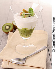 fresh kiwi dessert