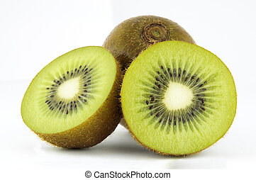 Fresh Kiwi Fruit isolated on white