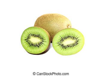 fresh kiwi fruit isolated on white.