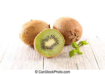 fresh kiwi half