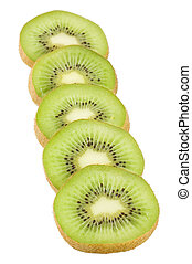 Fresh kiwi isolated on white background