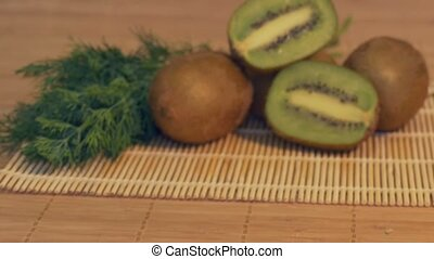 Fresh Kiwi on the Table
