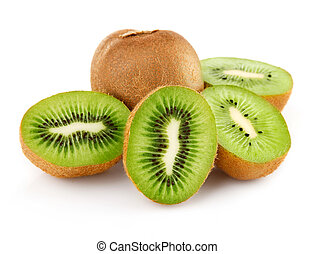 fresh kiwi with cut