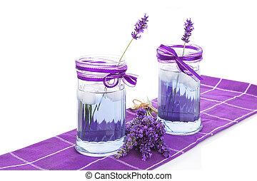Fresh lavender lemonade. - Fresh organic lavender lemonade...