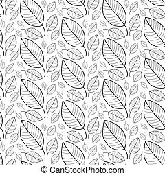 Fresh leaves seamless pattern in vector. Foliage endless background.