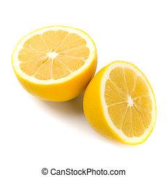 fresh lemon halves
