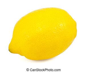 Fresh lemon on white background