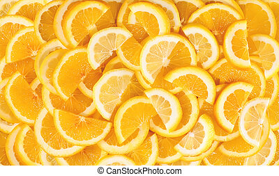 Fresh lemon slices background