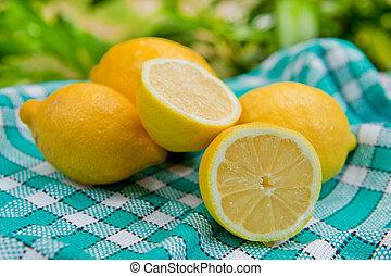 Fresh lemon - Still life with fresh lemon