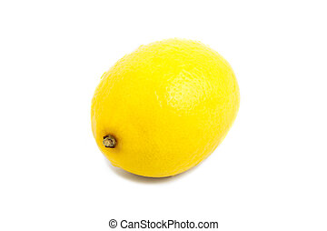 Fresh lemon with water drops on a white background