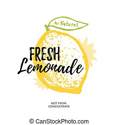 Fresh lemonade illustration