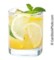 fresh lemonade isolated