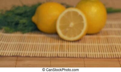 Fresh Lemons onn the Table