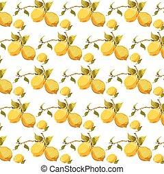 Fresh lemons pattern
