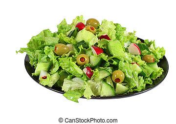 fresh lettuce spring salad