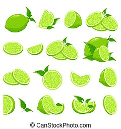 Fresh lime collection