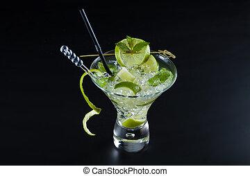 Lime Mojito over dark background