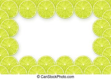 fresh lime slices frame