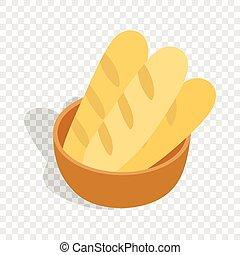 Fresh loaves isometric icon