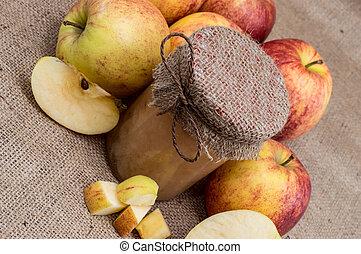 Fresh made applesauce - Fresh homemade applesauce on a ...