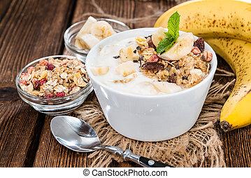 Fresh made Banana Yogurt