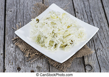 Coleslaw - Fresh made Coleslaw on vintage wooden background